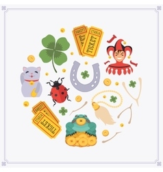 decorating design made of Lucky Charms vector image
