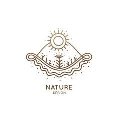 decorative logo nature vector image