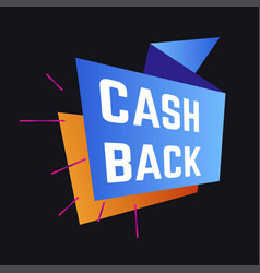 economy cash back service guarantee shopping and vector image