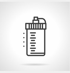 Fitness shaker bottle simple line icon vector