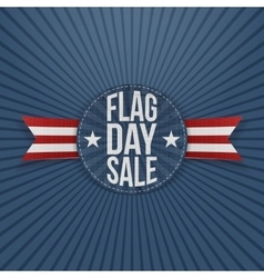 Flag Day Sale greeting Label with Text and Shadow vector image
