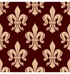 Floral pattern of french fleur-de-lis symbols vector