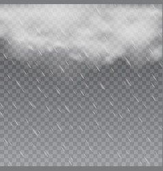 foggy rainy weather in transparent background vector image