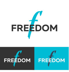 freedom logo letter f logo logo template vector image