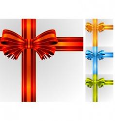 gift ribbon vector image