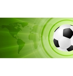 Green anstract soccer sport background with ball vector