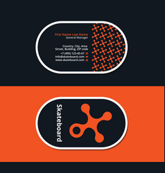 Grunge and urban business card vector