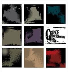 grunge backgrounds - set vector image