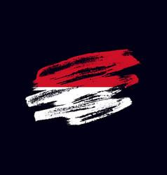 Grunge textured monacan flag vector