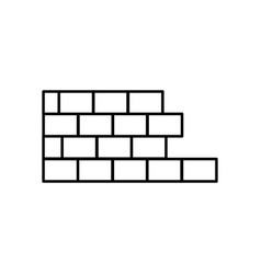 half brick wall icon vector image