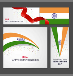 Happy india independence day banner vector