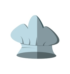 hat chef cook kitchen with shadow vector image