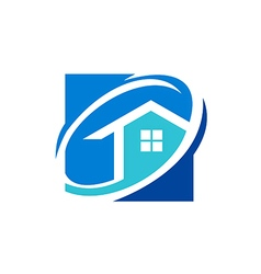 house realty icon logo vector image