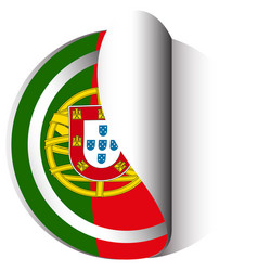 icon design for flag of portugal vector image