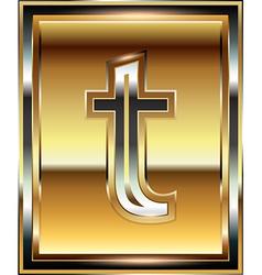 Ingot Font Letter t vector