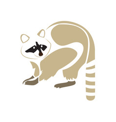 isolated abstract raccoon vector image