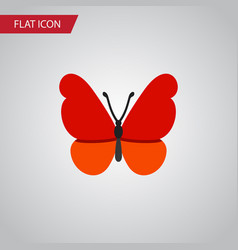 isolated milkweed flat icon monarch vector image