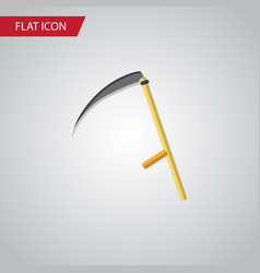 Isolated scythe flat icon cutter element vector
