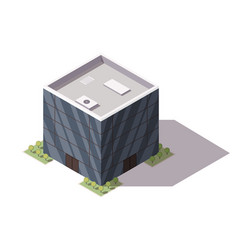Isometric supermarket or grocery store building vector