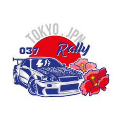 japan sport car for print vector image