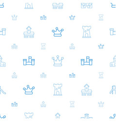 Kingdom icons pattern seamless white background vector