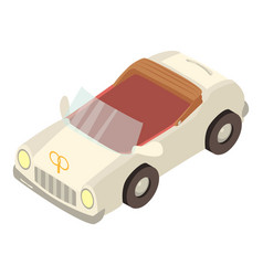 limousine icon isometric style vector image