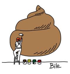 Metaphor function of bile of liver vector