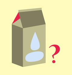 Milk carton box flat flat style isolated on vector
