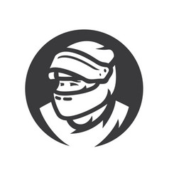 motorcycle racer simple silhouette vector image