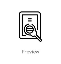 outline preview icon isolated black simple line vector image