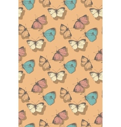 pattern with butterflies vector image