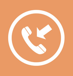 phone icon flat design style eps10 vector image