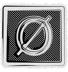 Polka Dot Font NUMBER 0 vector image