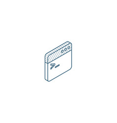 programming code application isometric icon 3d vector image