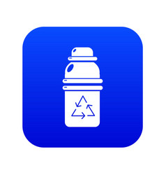 Purified water container icon blue vector