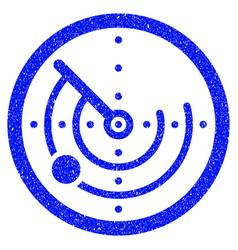 radar grunge icon vector image