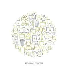 Recycling garbage icons vector image