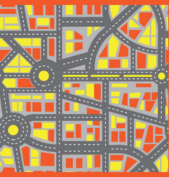 seamless map city vector image