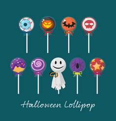 set of halloween lollipop vector image