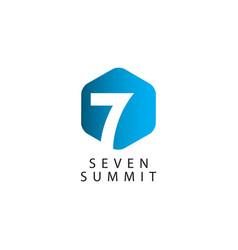 Seven summit template design vector