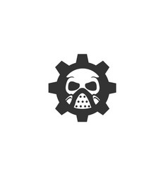 skull gear icon vector image