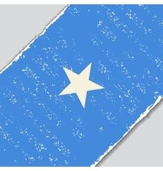 Somalian grunge flag vector