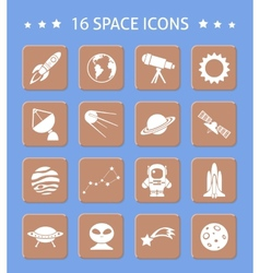 Space and astronomy buttons vector image