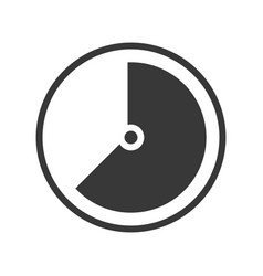 Speedometer or time gage icon vector
