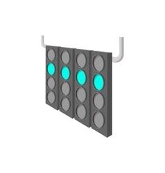 Sport traffic light cartoon icon vector image