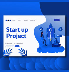 start up project- flat vector image