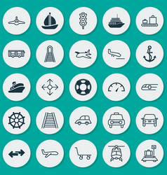 Transport icons set collection of air transport vector