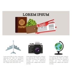 Travel and infographic design vector image