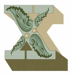 western letter x vector image