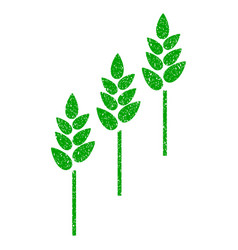 Wheat plants icon grunge watermark vector